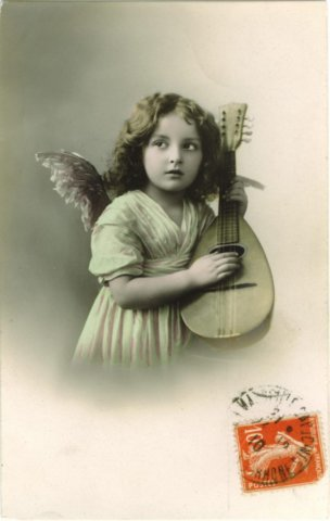 Merry Christmas - Klick image for more mandolin postcards!