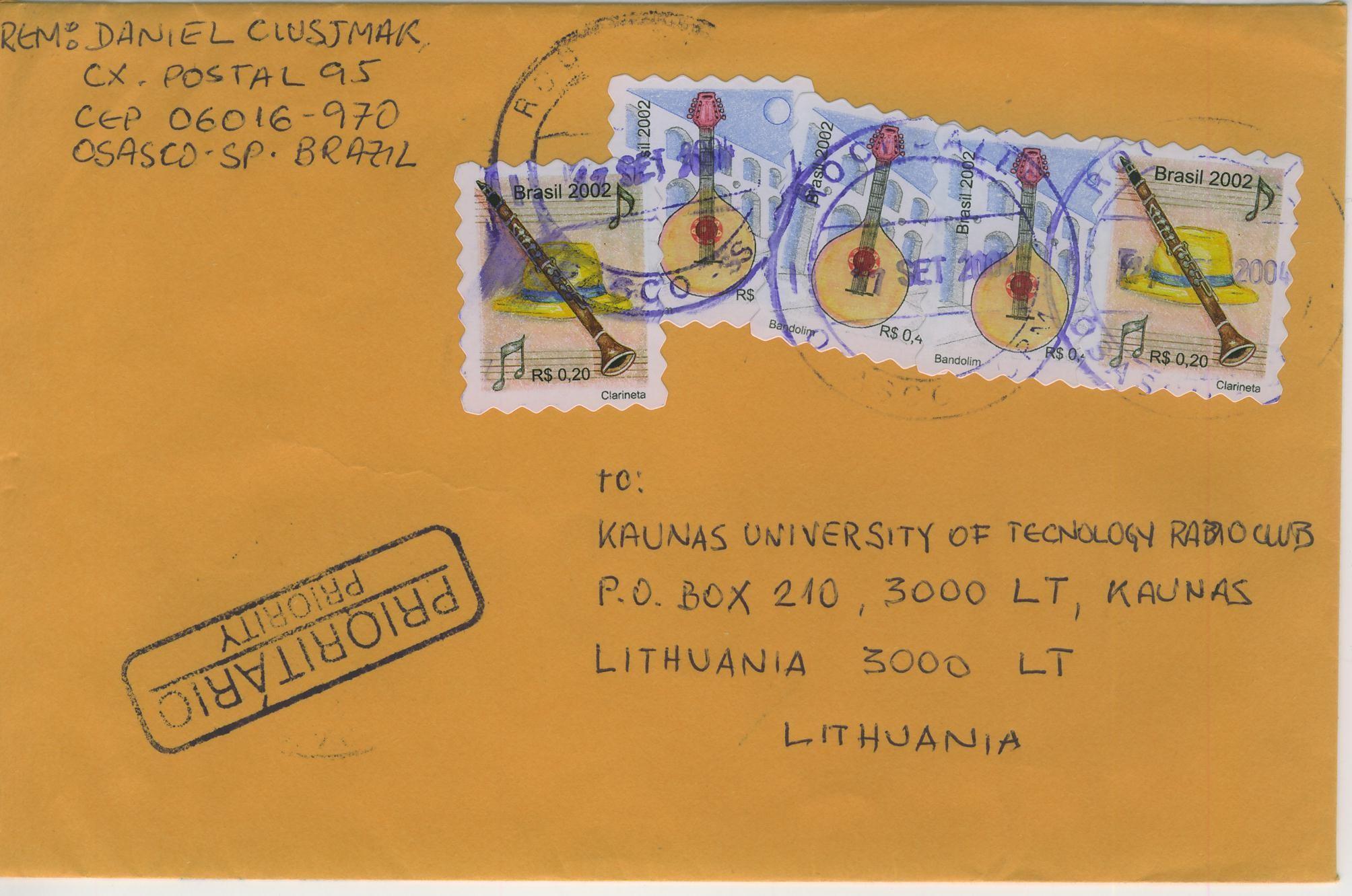 Mandoisland Gallery Briefumschlag Briefmarken Brasilien